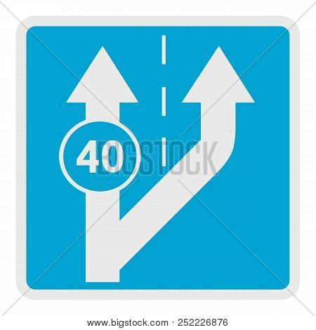 Forty On Arrow Icon. Flat Illustration Of Forty On Arrow  Icon For Web.