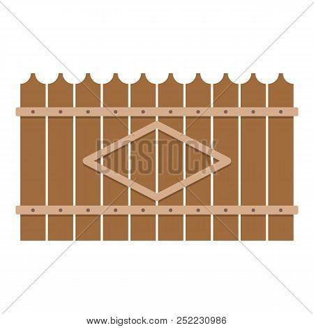Wooden Peak Fence Icon. Flat Illustration Of Wooden Peak Fence  Icon For Web.