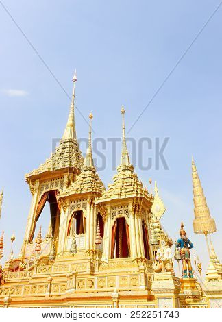 Bangkok, Thailand - November 04, 2017; Gold Of Royal Crematorium For King Bhumibol Adulyadej In Bang