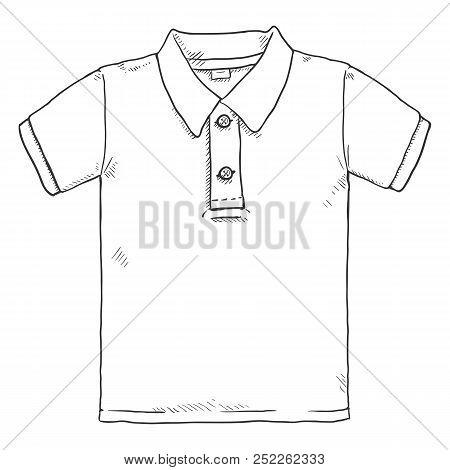 Vector Single Sketch Illustration - Polo Shirt