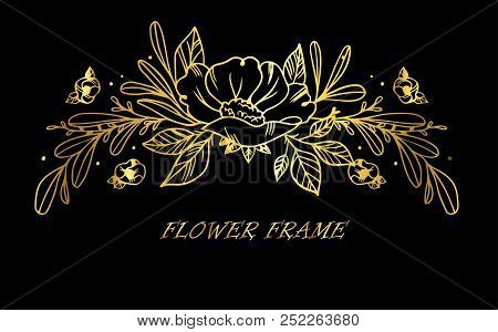 Floral Set Of Very Detailed Hand-drawn Elements. Vector Illustration.
