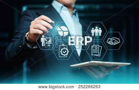 Enterprise Resource Planning Erp Corporate Company Management Business Internet Technology Concept.