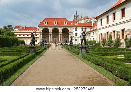 Prague, Jun 11, 2018 - View Of The Baroque Style Wallenstein Palace In Malá Strana, Prague, Currentl