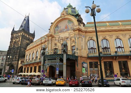 Jun 11, 2018 - Prague, Czech Republic: Art Nouveau Building, Municipal House, Theater And Opera Hous