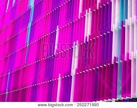 Acrylic Plastic Sheet Interior Seven Level A Few White And Color Magenta Blue Pink