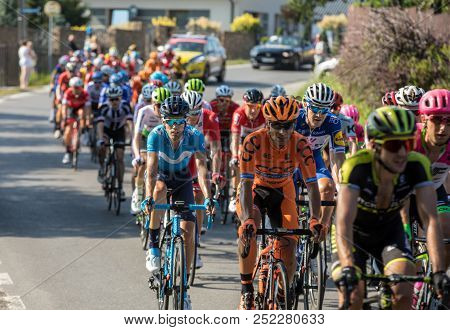 Krakow, Poland - August 4, 2018: The First Stage In The 75 Tour De Pologne Uci - World Tour, The 134