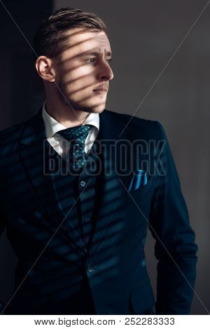 Style Concept. Young Man Dressed In Classy Style. Formal Style And Fashion. The Style Is The Man Him