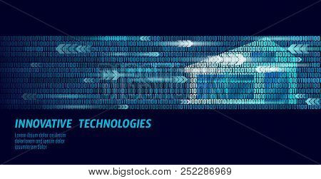 Smart House Binary Code Flow Concept. Online Control Information Analysis. Internet Of Things Techno
