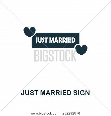 Just Married Sign Creative Icon. Simple Element Illustration. Just Married Sign Concept Symbol Desig
