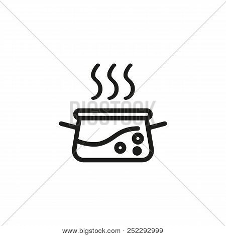 Stewpan Line Icon. Food, Cooking, Boiling. Cookware Concept. Vector Illustration Can Be Used For Top