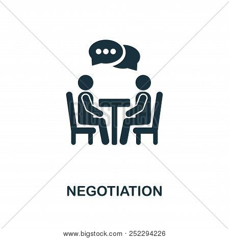 Negotiation Creative Icon. Simple Element Illustration. Negotiation Concept Symbol Design From Soft