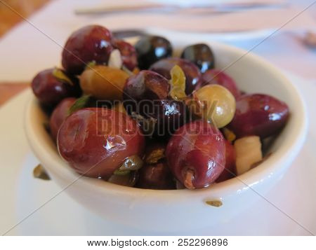 Olives, An Important Part Of The Mediterranean Diet.