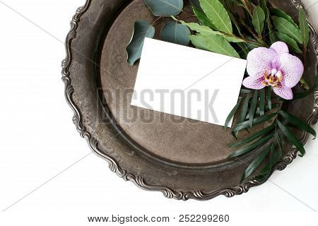Styled Stock Photo. Feminine Summer Wedding Still Life Composition, Mockup Scene. Closeup Of Vintage