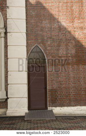 Brick Wall With Door