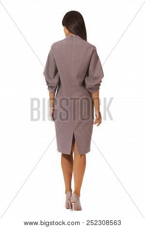 Indian Young Business Woman Executive Posing In Designer Formal Woolen Dress High Heels Stiletto Sho
