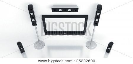 Moderne Heimkino mit dem großen Plasma und hochwertige Akustik