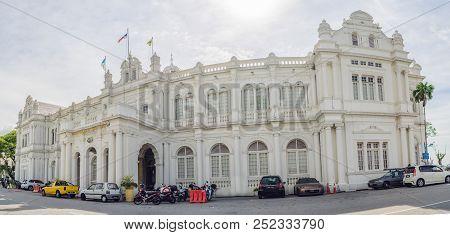 April 16, 2018 - Penang, Malaysia: City Hall In George Town - Penang, Malaysia. British Built Histor