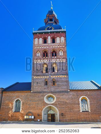 Dome Cathedral (Riga Dome). Medieval Lutheran church with elements of Romanesque architecture, early Gothic and baroque styles.Riga.Latvia. poster