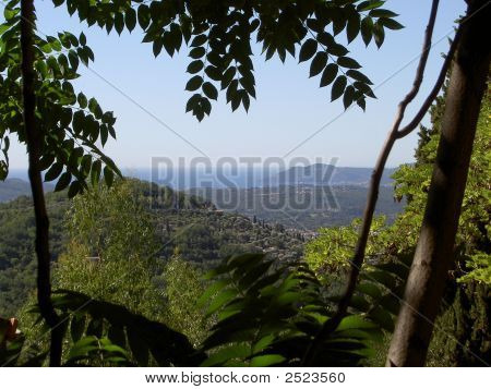 French Riviera From The Hills