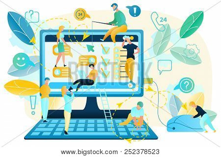 Internet User Activity Habits Tracking Flat Vector Concept. Online Client Preferences Analysis And P