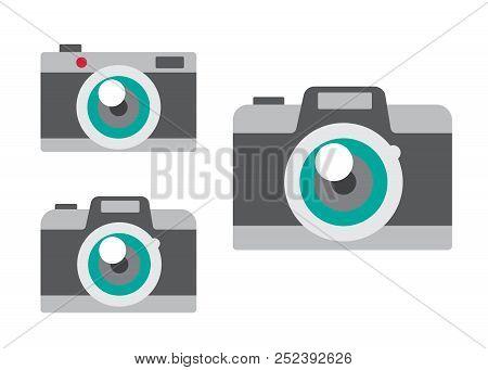 Camera Icons Set Vector Illustration. Camera Black Logo. Camera Icons Sign