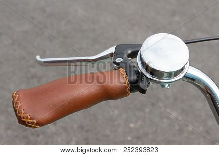 Road Safety Cycle Bell A Cycle Bell On The Handle Bars Of A Pedal Cycle Bike.