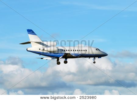 Small Airplane In Flight