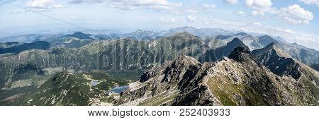 Spectacular Tatra Mountains Panorama  From Hruba Kopa Peak In Western Tatras Mountains In Slovakia W