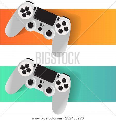 Joypad Video Game Console Vector Illustration Set