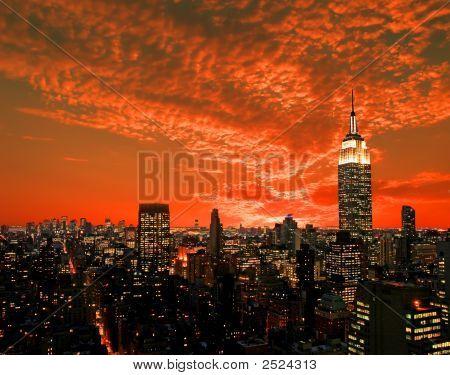 Нью-Йорк Midtown Skyline