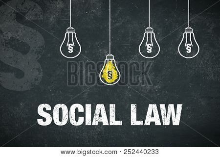 "Banner Showing The Text ""social Law"