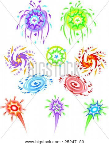 Fireworks with a little flare - Vector Illustration
