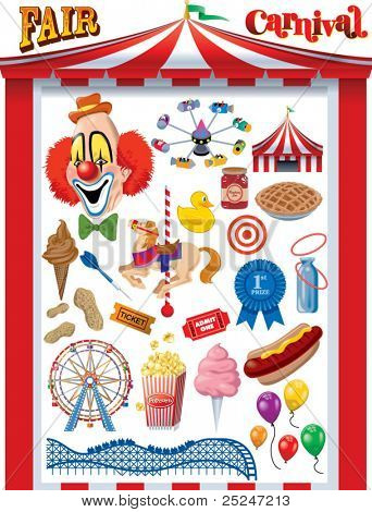 Fair/Carnival Vector Graphics