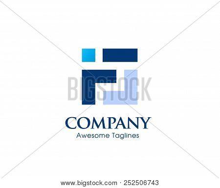 Creative Letter F Square Logo Template Vector Illustration, Logo For Corporate Identity Of Company O