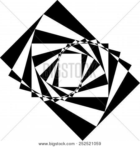 Abstract Frame Diagonal Stairs Perspective Black On Transparent Background