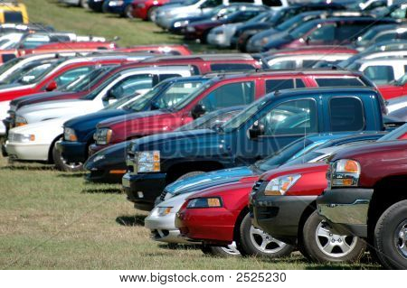 Group Of Parked Cars