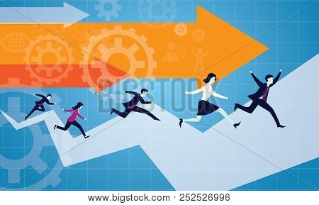 Vector Illustration. Business Competition Concept