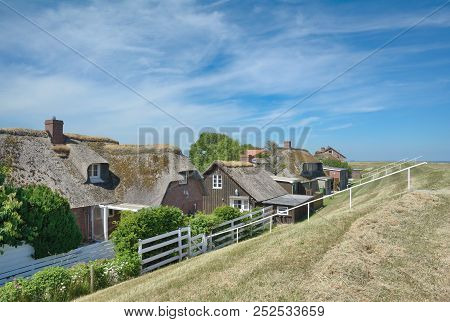 Traditional Village Of Norderhafen On Nordstrand Peninsula,north Sea,north Frisia,germany