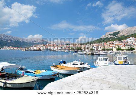 Village Of Baska On Krk At Adriatic Sea,mediterranean Sea,croatia