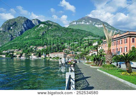 Promenade Of Menaggio At Lake Como In Lombardy,italy