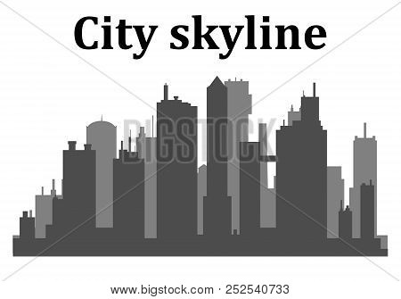 City Skyline.city Skyscrapers Building Office Horizon On A Transparent Background.the Morning City I