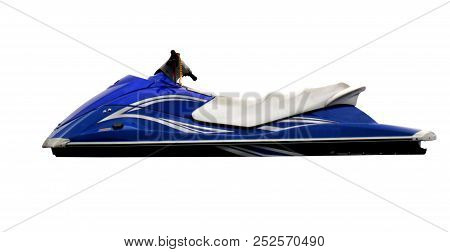 Jetski Aquabike Hydrocicle Isolated On White Background