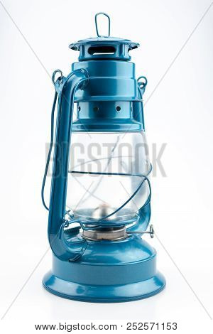 Blue Kerosene Lamp.