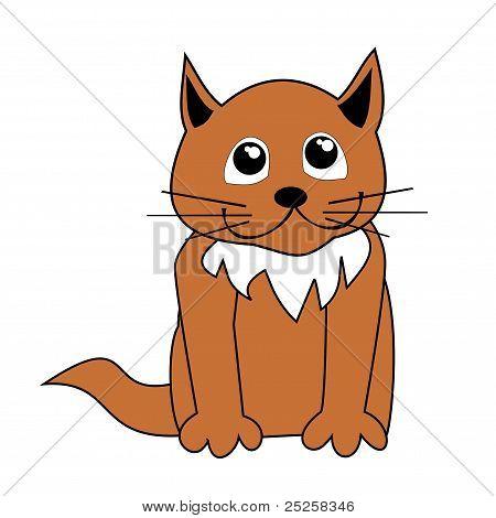 Cartoon cat vector illustration