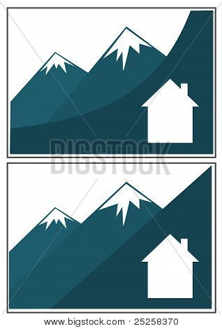 Set of mounty business cards