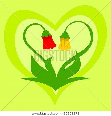 Floral valentine