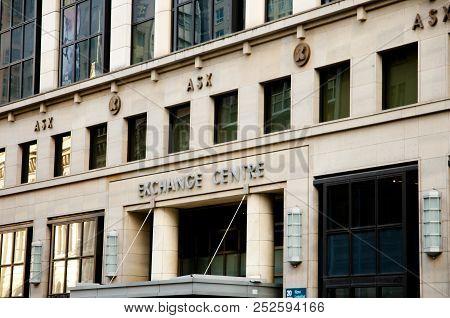 Sydney, Australia - April 6, 2018: Financial Headquarters Australian Securities Exchange (asx) Build