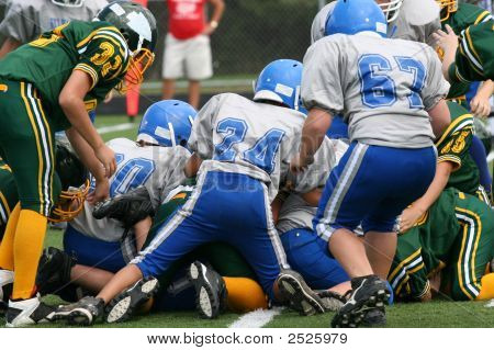 Teen Youth Football Play