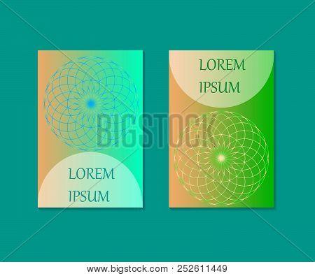 Minimal covers design. Flower of Life cover. Mandala Vector Illustration.
