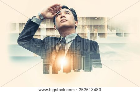 Double Exposure - Business Leader Vision